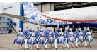 """Модель самолета Airbus A321 Аэрофлот """"Гжель"""" 1:144"""