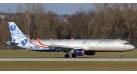 """Модель самолета Airbus A321 Аэрофлот """"Гжель"""" 1:100"""