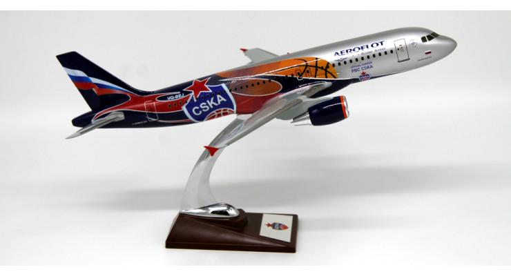 Модель самолета Airbus A320 Аэрофлот ЦСКА (баскетбол) 1:100