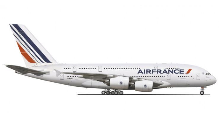 Модель самолета Airbus A380-800 Air France 1:200