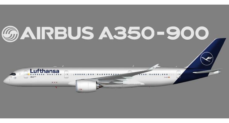 Модель самолета Airbus A350-900 Lufthansa 1:200