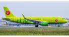 Модель самолета Airbus A320 S7 Airlines 1:200
