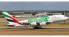 """Модель самолета Airbus A380-800 Emirates """"Green Expo 2020"""" 1:200"""