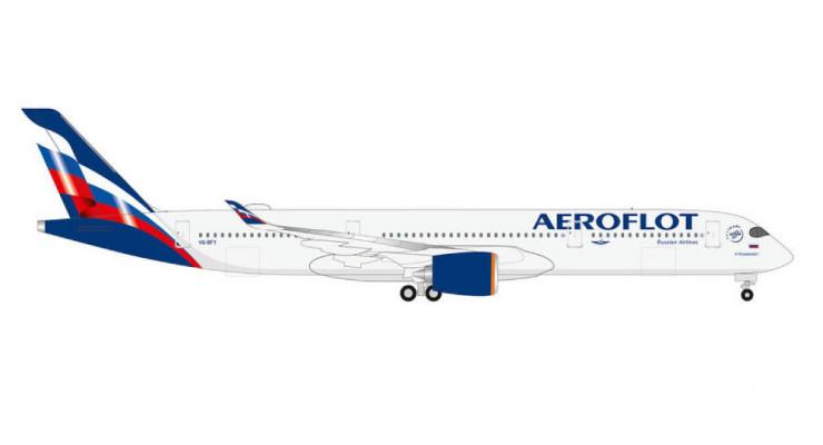 Модель самолета Airbus A350-900 Аэрофлот 1:400