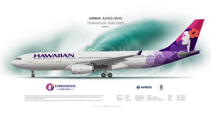 Модель самолета Airbus A330-200 Hawaiian Airlines 1:400