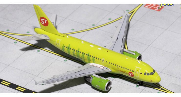 Модель самолета Airbus A319 S7 Airlines 1:400