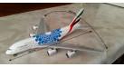 """Модель самолета Airbus A380-800 """"Blue Expo 2020"""" Emirates 1:400"""