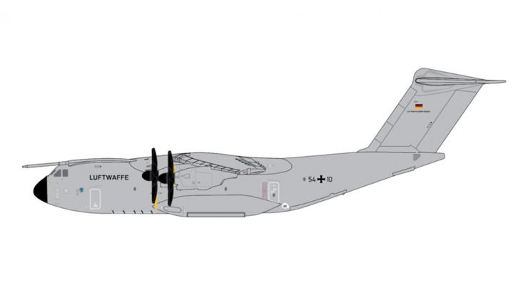 Модель самолета Airbus A400M Atlas Luftwaffe 1:400