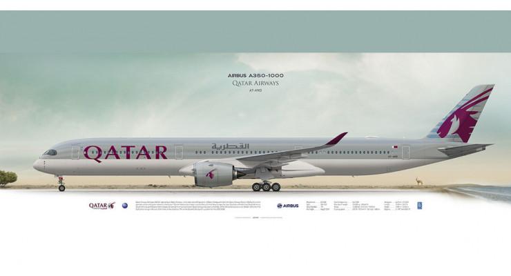 Модель самолета Airbus A350-1000 Qatar Airways 1:200