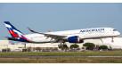 Модель самолета Airbus A350-900 Аэрофлот (механизация крыла выпущена) 1:200