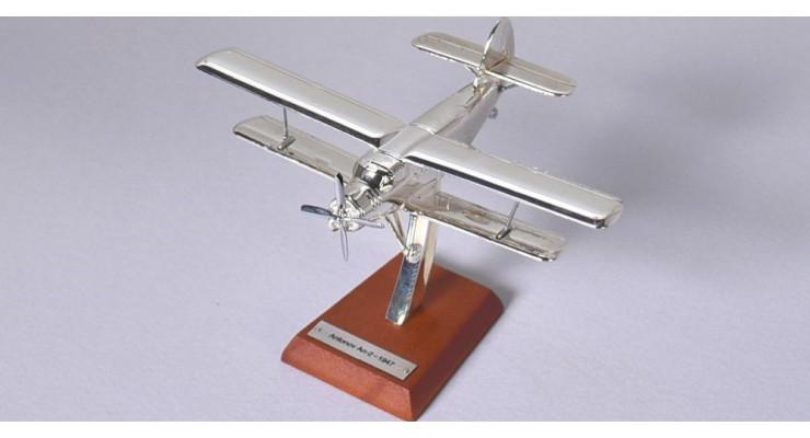 Модель самолета Антонов Ан-2 1947г. (хром) 1:200 EB0AN2