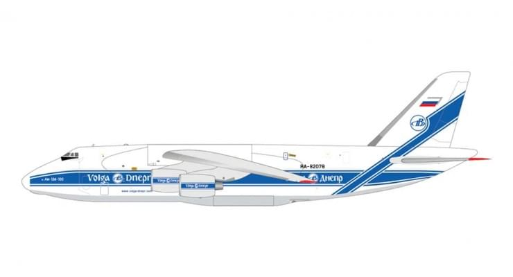 Модель самолета Антонов Ан-124 Волга-Днепр 1:400