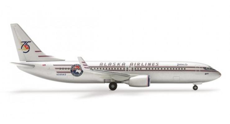 "Модель самолета Boeing 737-800 Alaska Airlines ""75th Anniversary"" 1:500 504690"