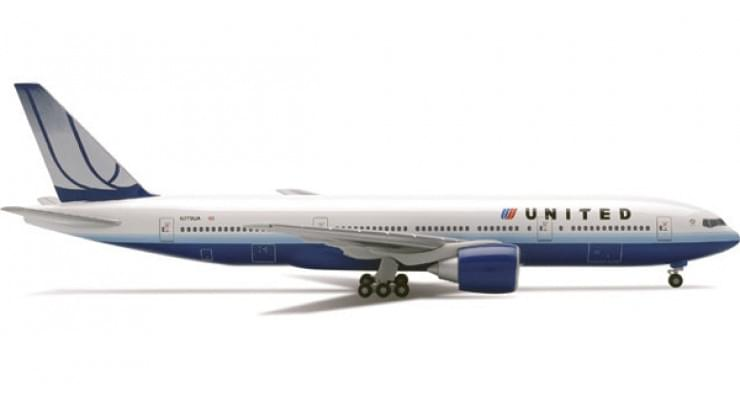 Модель самолета Boeing 777-200 United Airlines 1:500 506687