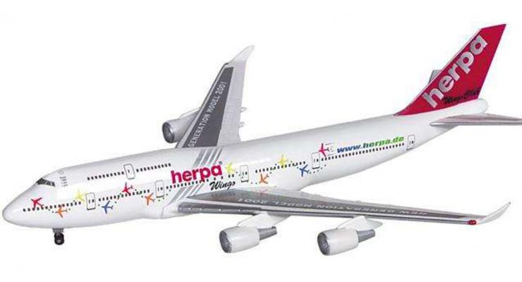 "Модель самолета Boeing 747-400 ""Herpa Wings"" 1:500"