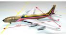 Модель самолета Boeing 707-300C Ecuatoriana Jet Cargo 1:500
