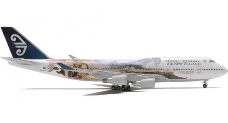 "Модель самолета Boeing 747-400 Air New Zealand ""Lord of the Rings - Legolas / Aragorn"" 1:500"