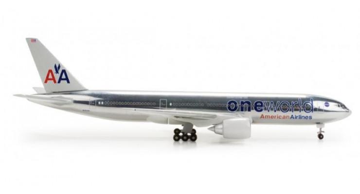 "Модель самолета Boeing 777-200 American Airlines ""One World"" 1:500 517553"