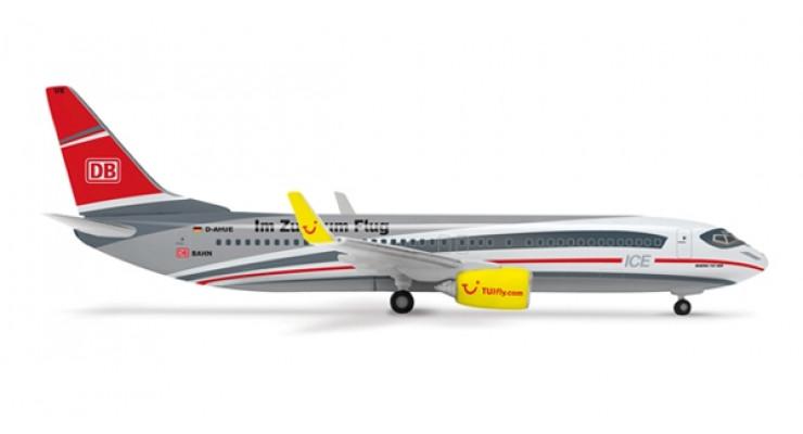 "Модель самолета Boeing 737-800 TUIfly Deutsche Bahn ""ICE"" 1:500 518369"
