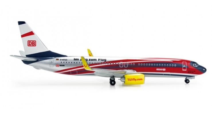 """Модель самолета Boeing 737-800 TUIfly / Deutsche Bahn """"Regio"""" 1:500 518420"""