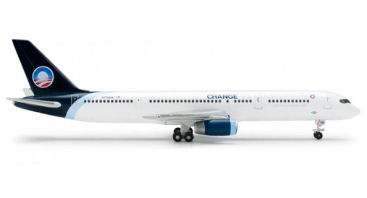 "Модель самолета Boeing 757-200 North American Airlines ""Obama Campaign 2008"" 1:500 518680"