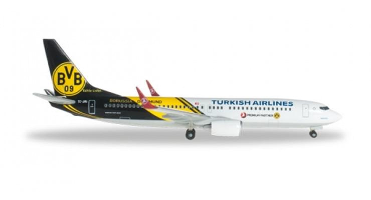 "Модель самолета Boeing 737-800 Turkish Airlines ""BVB 09 Borussia Dortmund"" 1:500 526357"