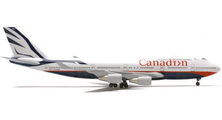 "Модель самолета Boeing 747-400 Canadian Airlines ""Maxwell W. Ward"" 1:200"