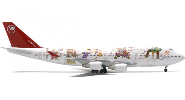 "Модель самолета Boeing 747-400 Northwest Airlines ""WorldPlane"" 1:200"