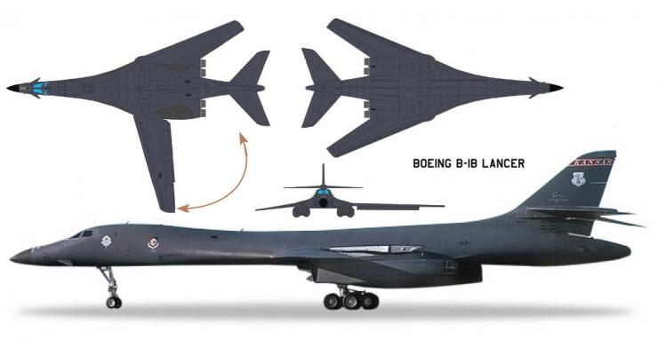 Модель самолета Boeing B-1B Lancer USAF 1:200 559263