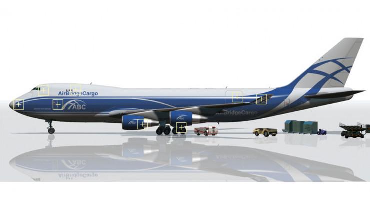 Модель самолета Boeing 747-400 Air Bridge Cargo 1:400