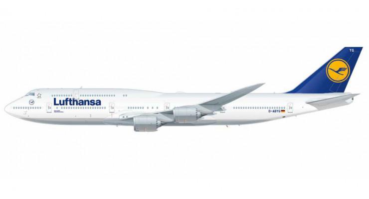 Модель самолета Boeing 747-8 Intercontinental Lufthansa 1:250