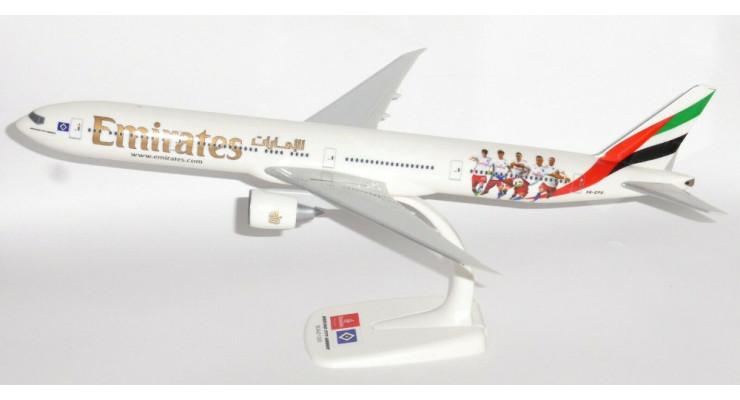 """Модель самолета Boeing 777-300ER Emirates """"Hamburger SV"""" 1:200"""