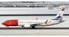 "Модель самолета Boeing 737 Max 8 Norwegian ""F.Laker"" 1:200"