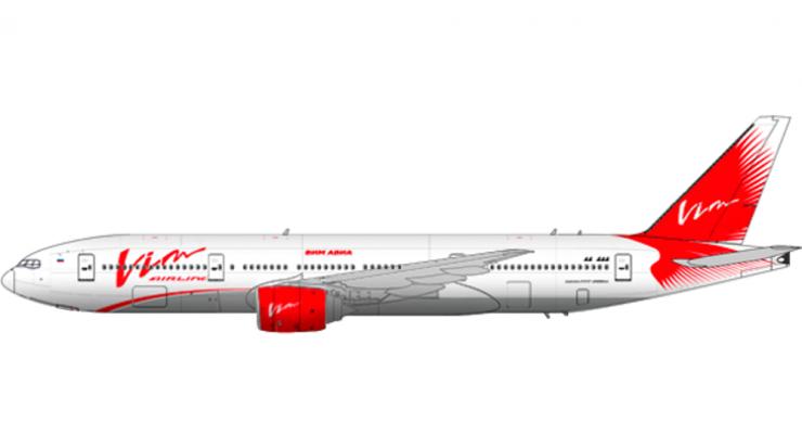 Модель самолета Boeing 777-200 Vim-Avia Airlines 1:100