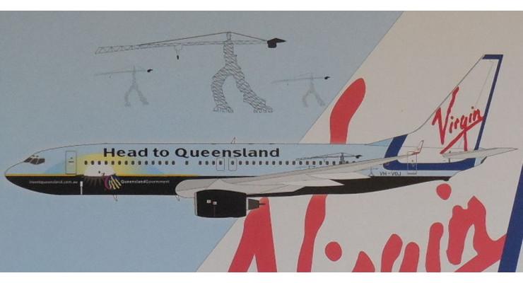 "Модель самолета Boeing 737-800 Virgin blue ""Head to Queensland"" 1:200"