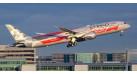 "Модель самолета Boeing 787-9 ""Formula 1"" Etihad Airways 1:400"