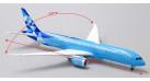 """Модель самолета Boeing 787-9 """"Manchester City"""" Etihad Airways 1:400"""