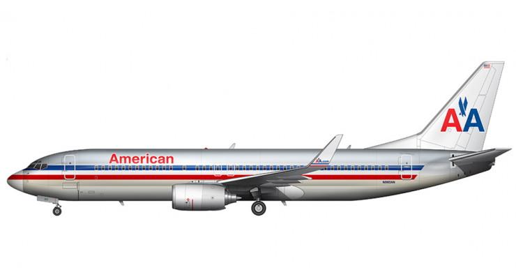 Модель самолета Boeing 737-800 American Airlines 1:200
