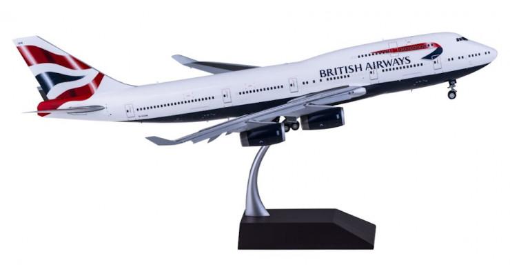 Модель самолета Boeing 747-400 British Airways (механизация крыла выпущена) 1:200