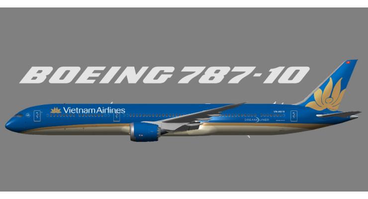 Модель самолета Boeing 787-10 Vietnam Airlines 1:200