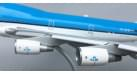 Модель самолета Boeing 747-400 KLM (механизация крыла выпущена) 1:200