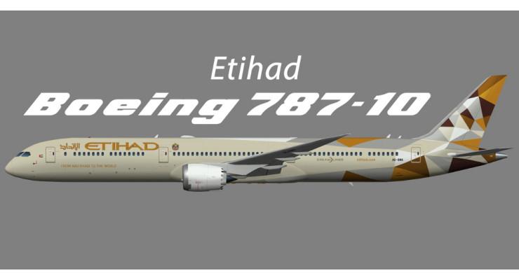 Модель самолета Boeing 787-10 Etihad Airways 1:400
