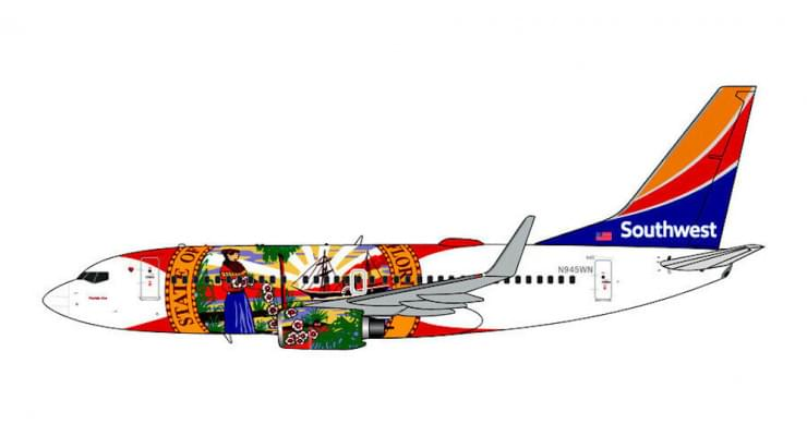 Модель самолета Boeing 737-700 Southwest Airlines 1:400