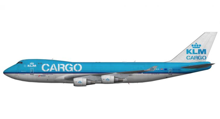 Модель самолета Boeing 747-400F KLM 1:400