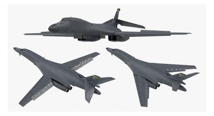 Модель самолета Boeing B-1B Lancer USAF 1:400