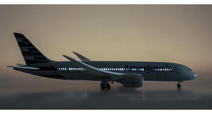 Модель самолета Boeing 787 Dreamliner American Airlines 1:130 (с подсветкой)