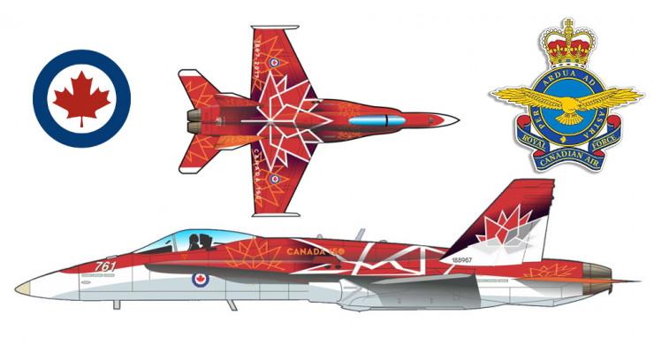 Модель самолета Boeing CF-188 Hornet 1:72