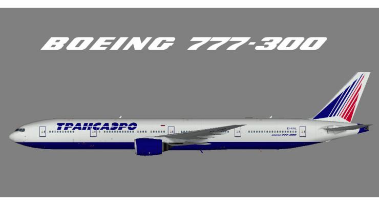 Модель самолета Boeing 777-300 Трансаэро 1:200
