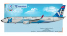 "Модель самолета Boeing 737-800 NordStar ""Лайка"" 1:200"