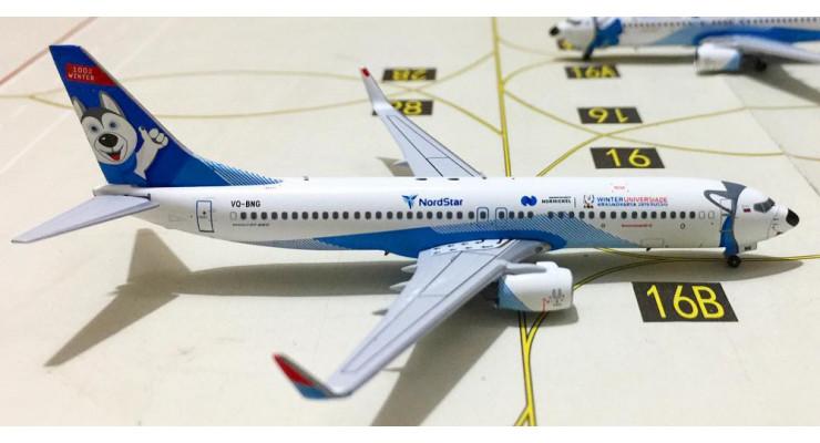 "Модель самолета Boeing 737-800 NordStar ""Лайка"" 1:400"